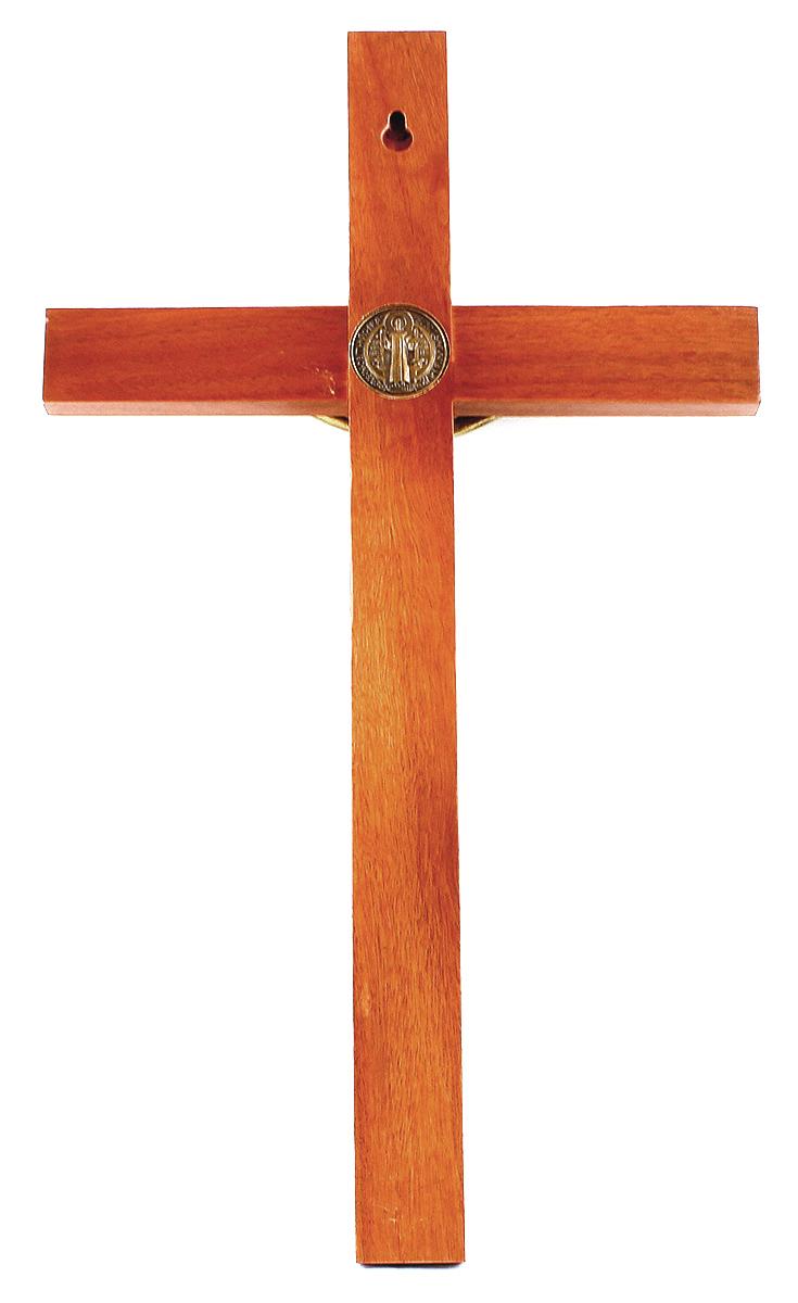 Crucifixo com Medalha de São Bento - 40cm