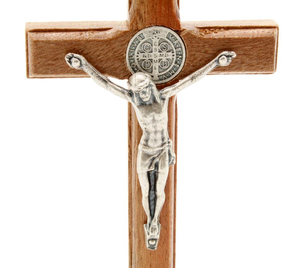 Crucifixo com Medalha de São Bento - Mesa 10CM