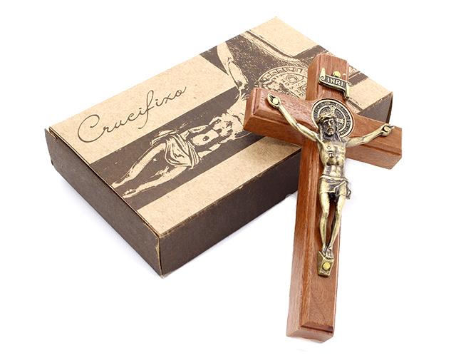 Crucifixo com Medalha de São Bento - Parede 12CM