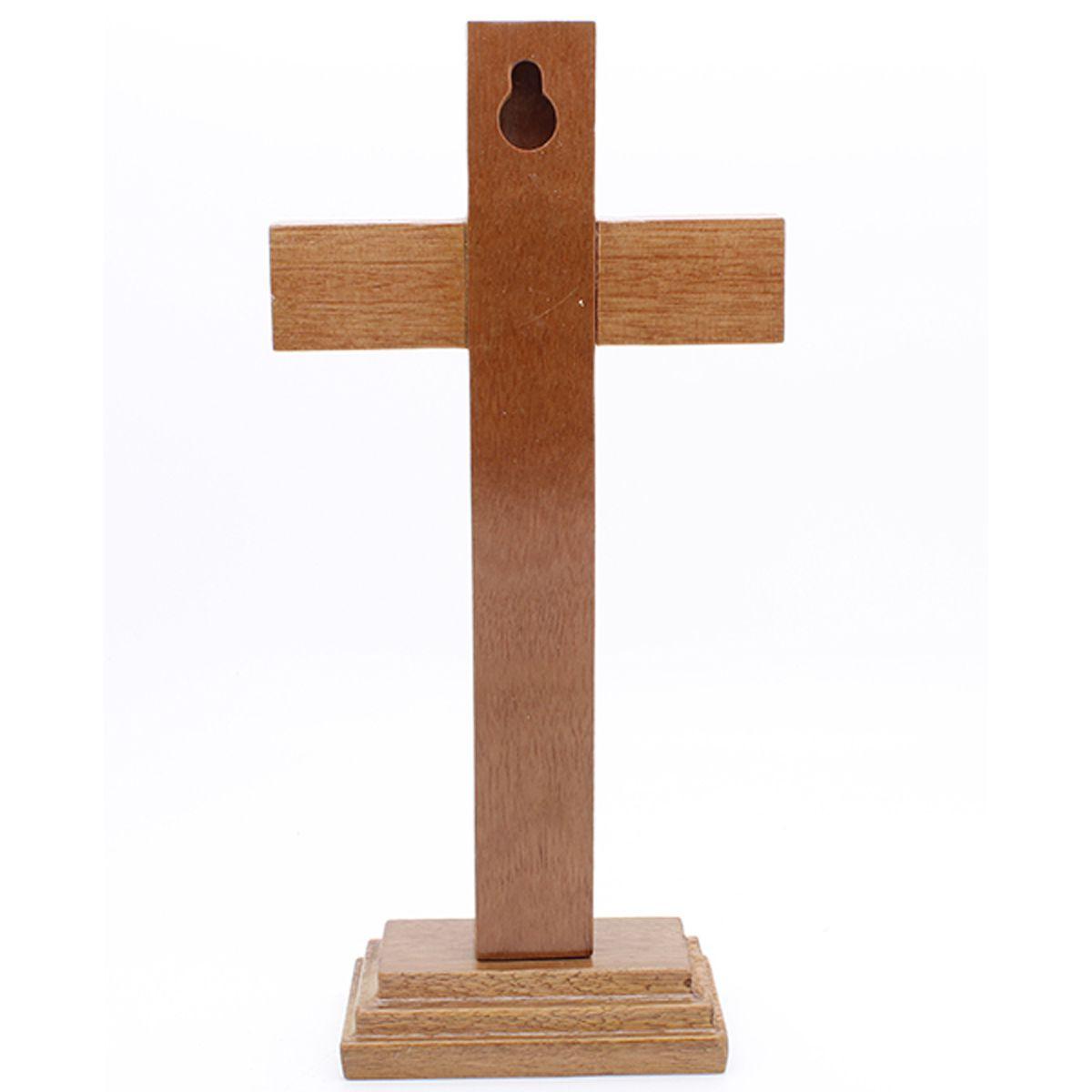 Crucifixo de Mesa e Parede - Onix - 17cm