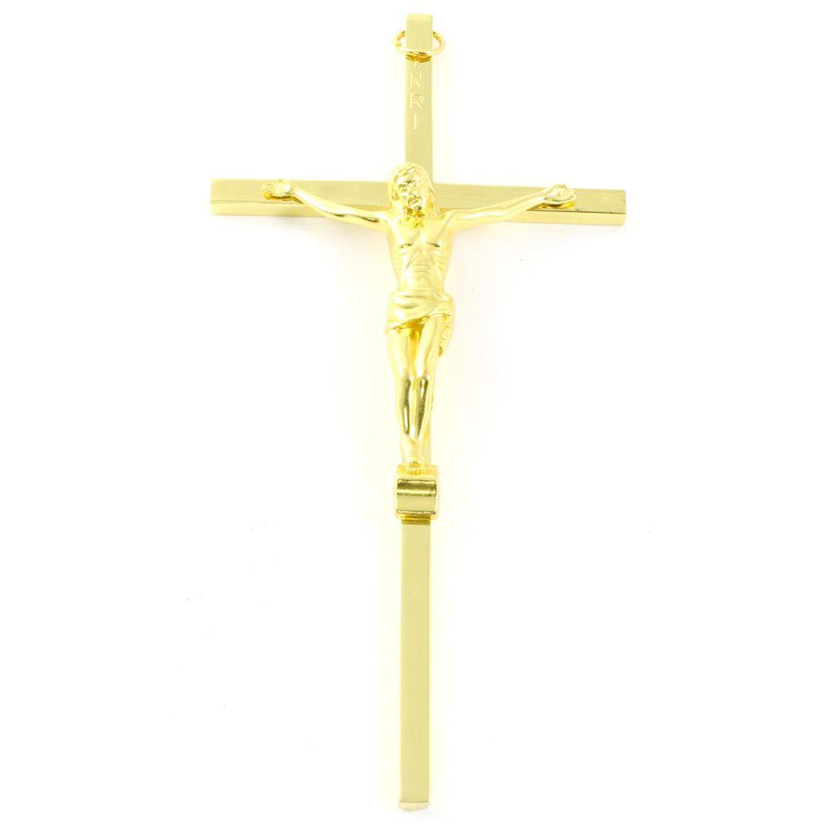 Crucifixo de Parede em Metal 15 cm