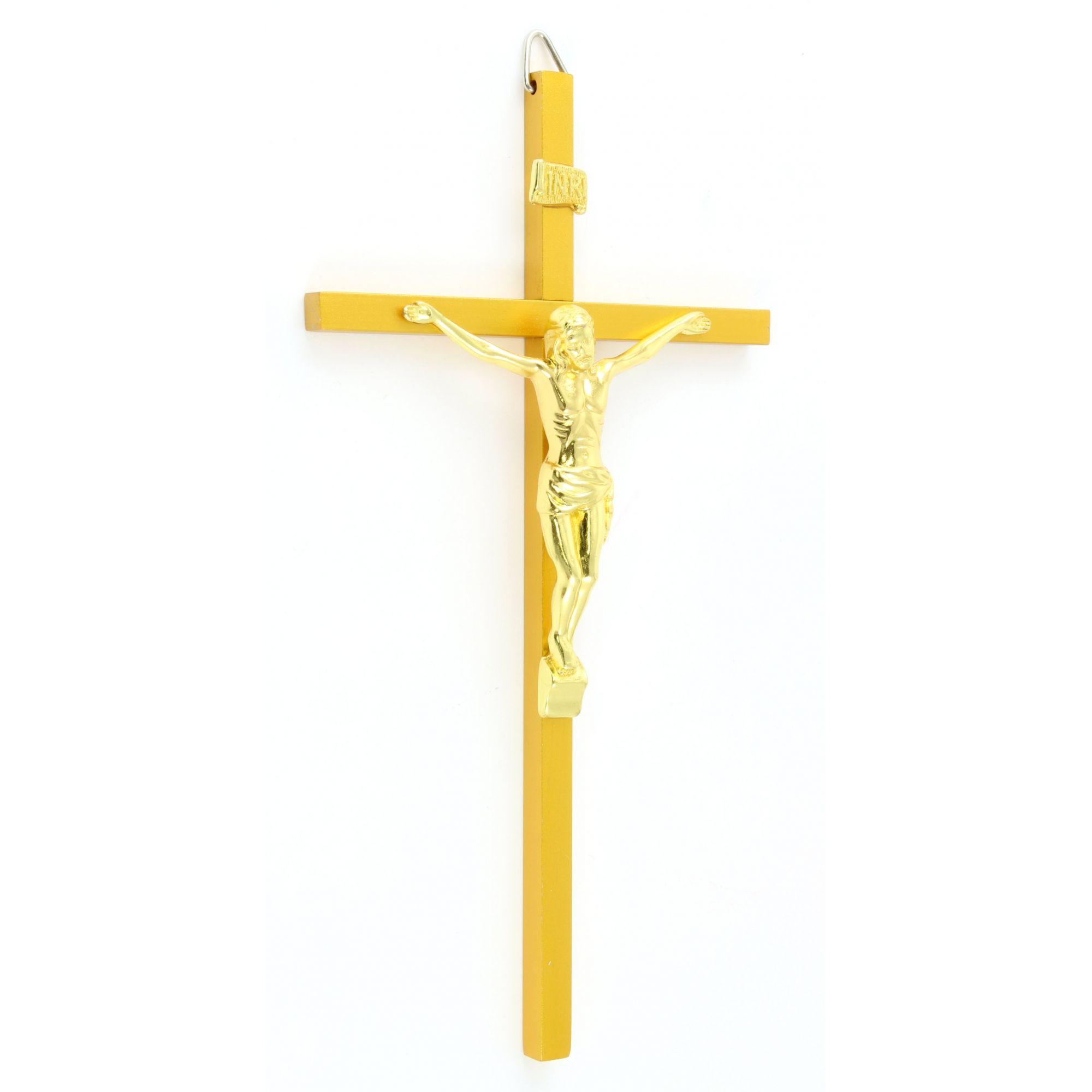 Crucifixo de Parede em Metal Fosco 21 cm