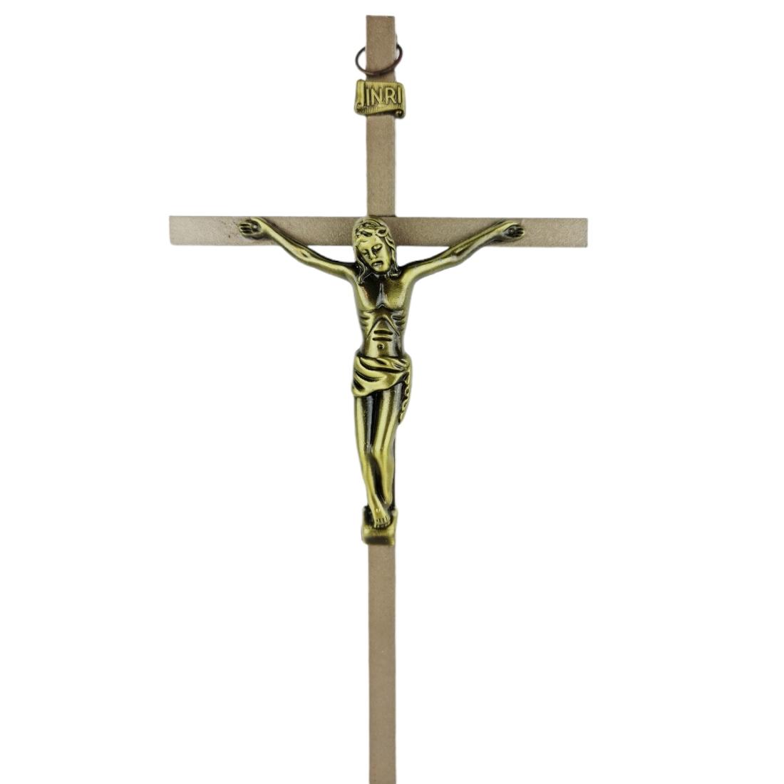 Crucifixo de Parede em Metal Fosco 21 cm PV