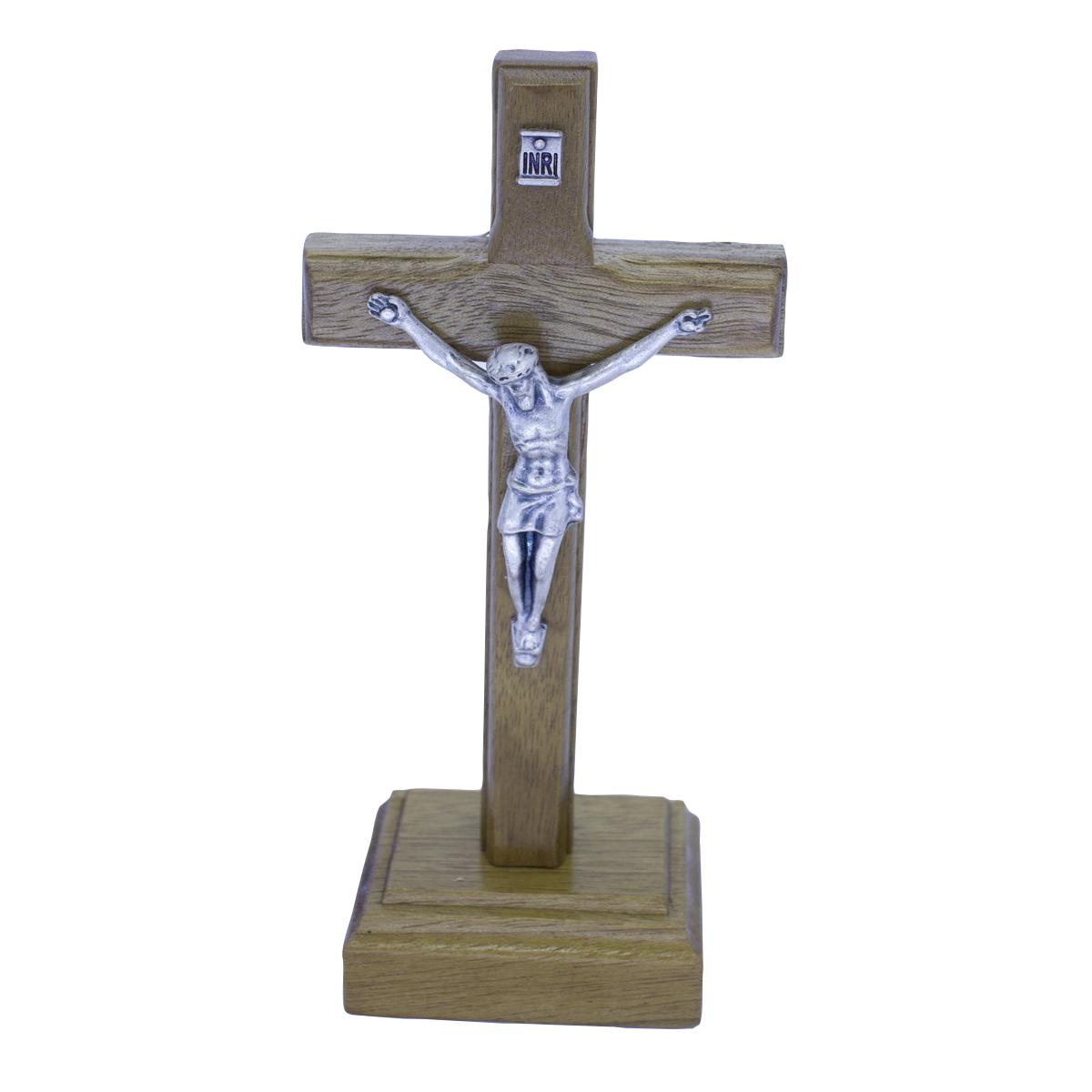 Crucifixo Madeira de Mesa 9CM PV