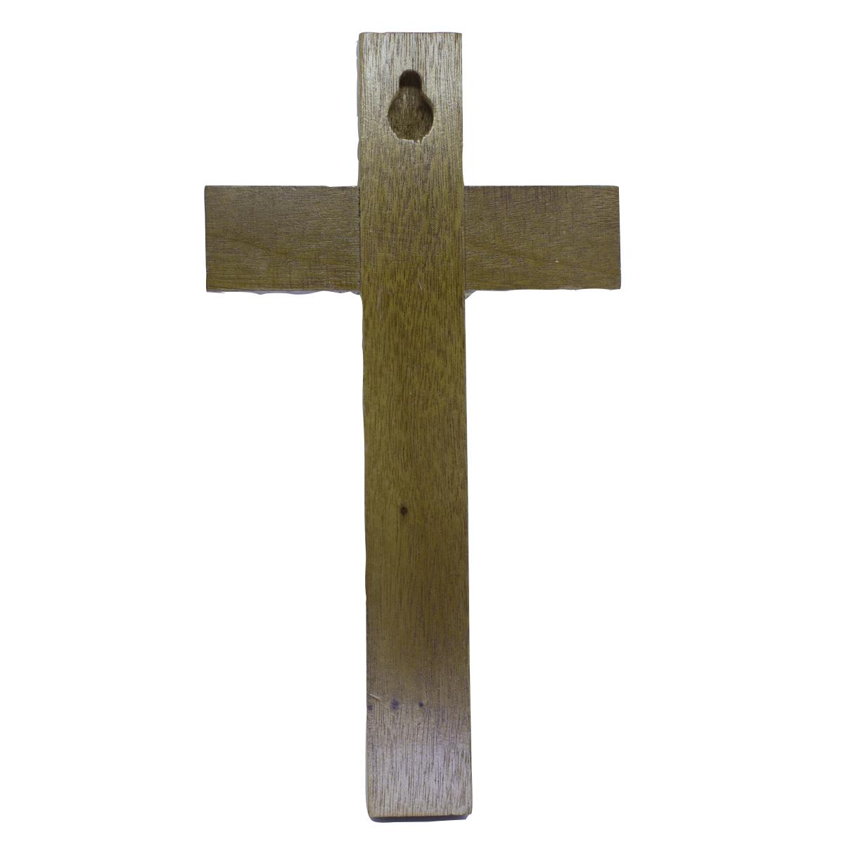 Crucifixo Madeira de Parede - 17cm OV