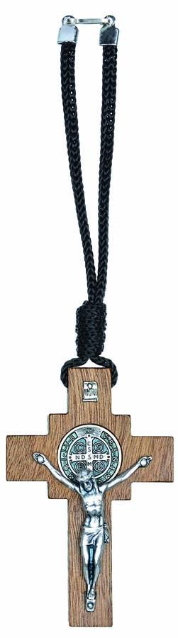 Crucifixo para carro com medalha de São Bento
