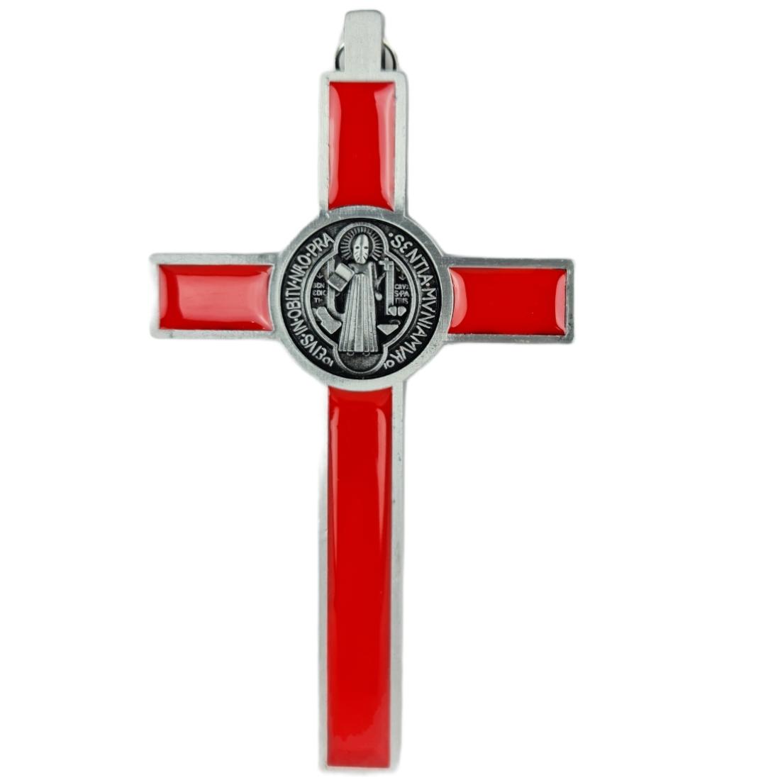 Crucifixo Pequeno Pendurar Metal Medalha 12cm PV