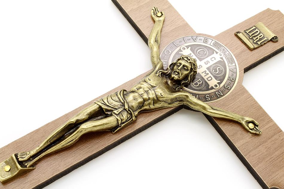 Cruz MDF Medalha São Bento Parede - 25cm