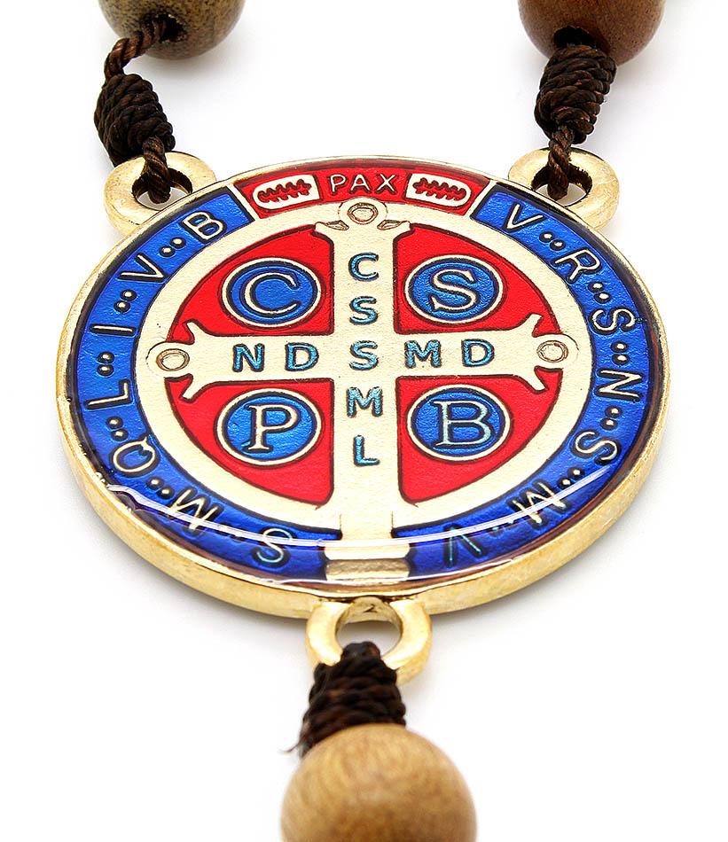 Dezena Madeira Imbuia Medalha de São Bento