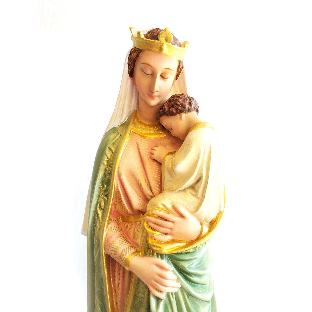 Imagem Escultura Nossa Senhora da Sabedoria Policromada - 40cm