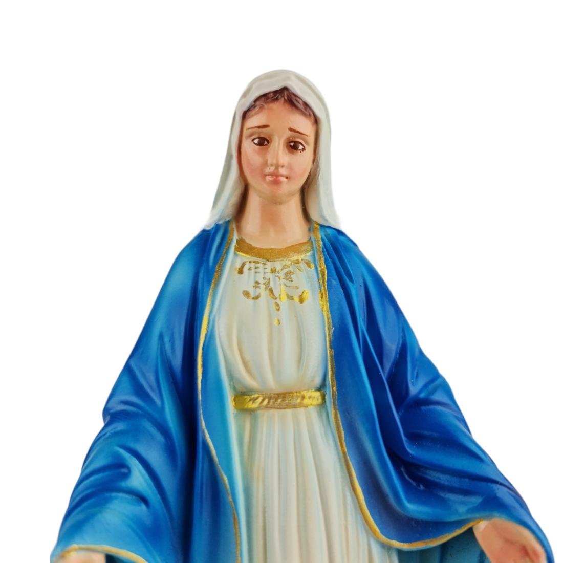 Imagem Escultura Nossa Senhora Das Graças 20cm Policromada