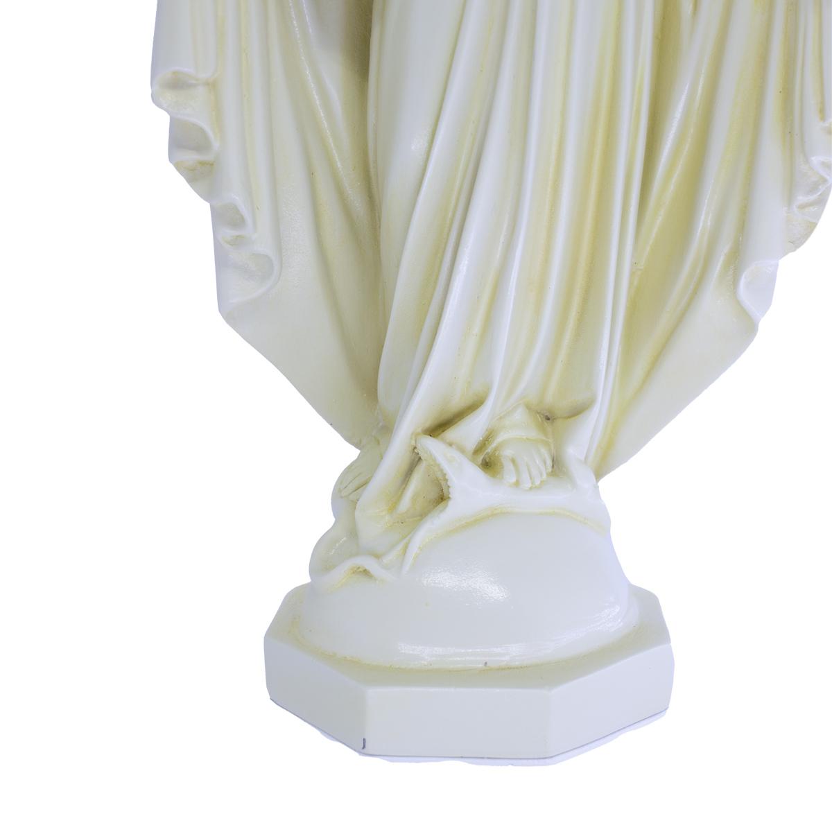 Imagem Escultura Nossa Senhora Das Graças 30cm Cor Marfim