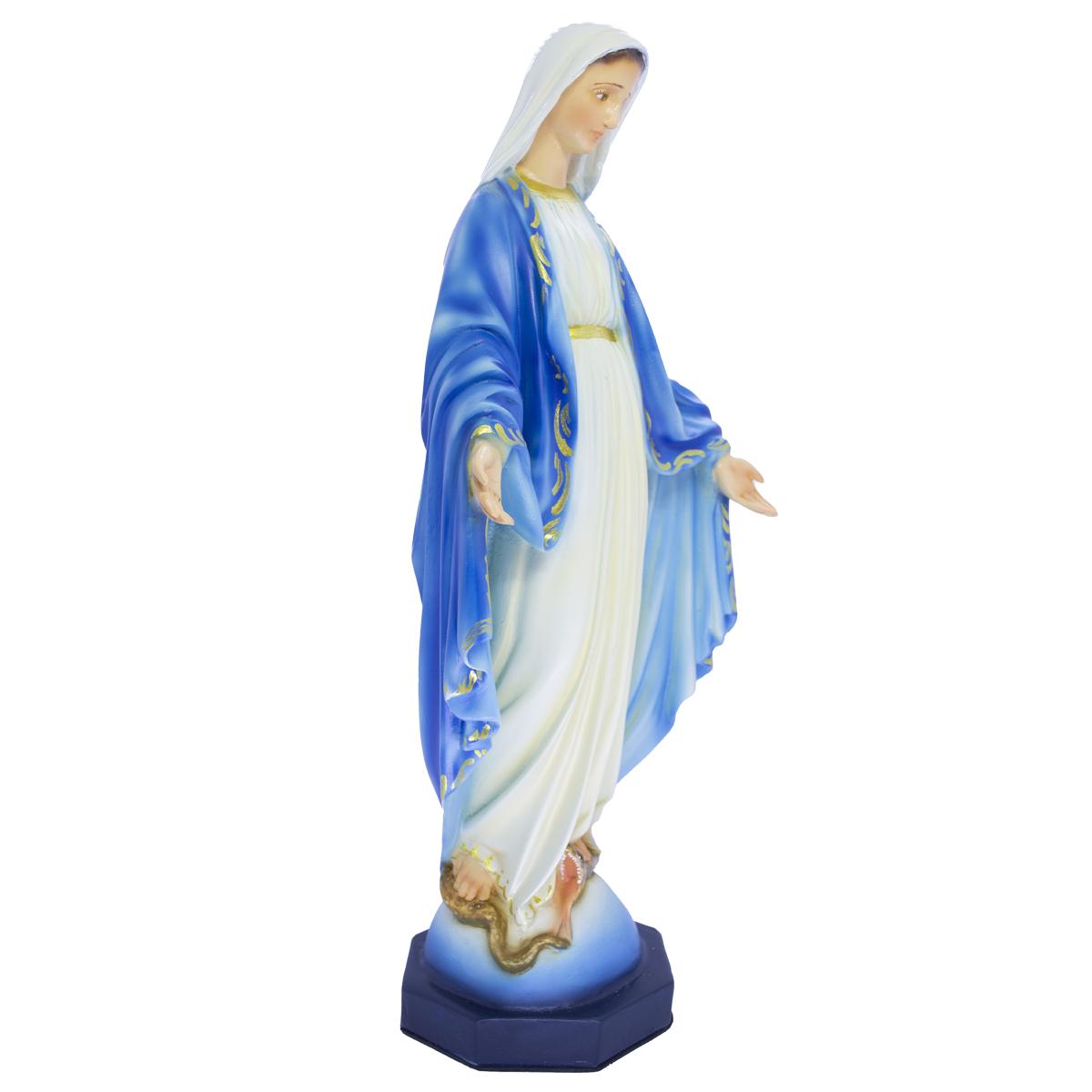 Imagem Escultura Nossa Senhora Das Graças 30cm Policromada