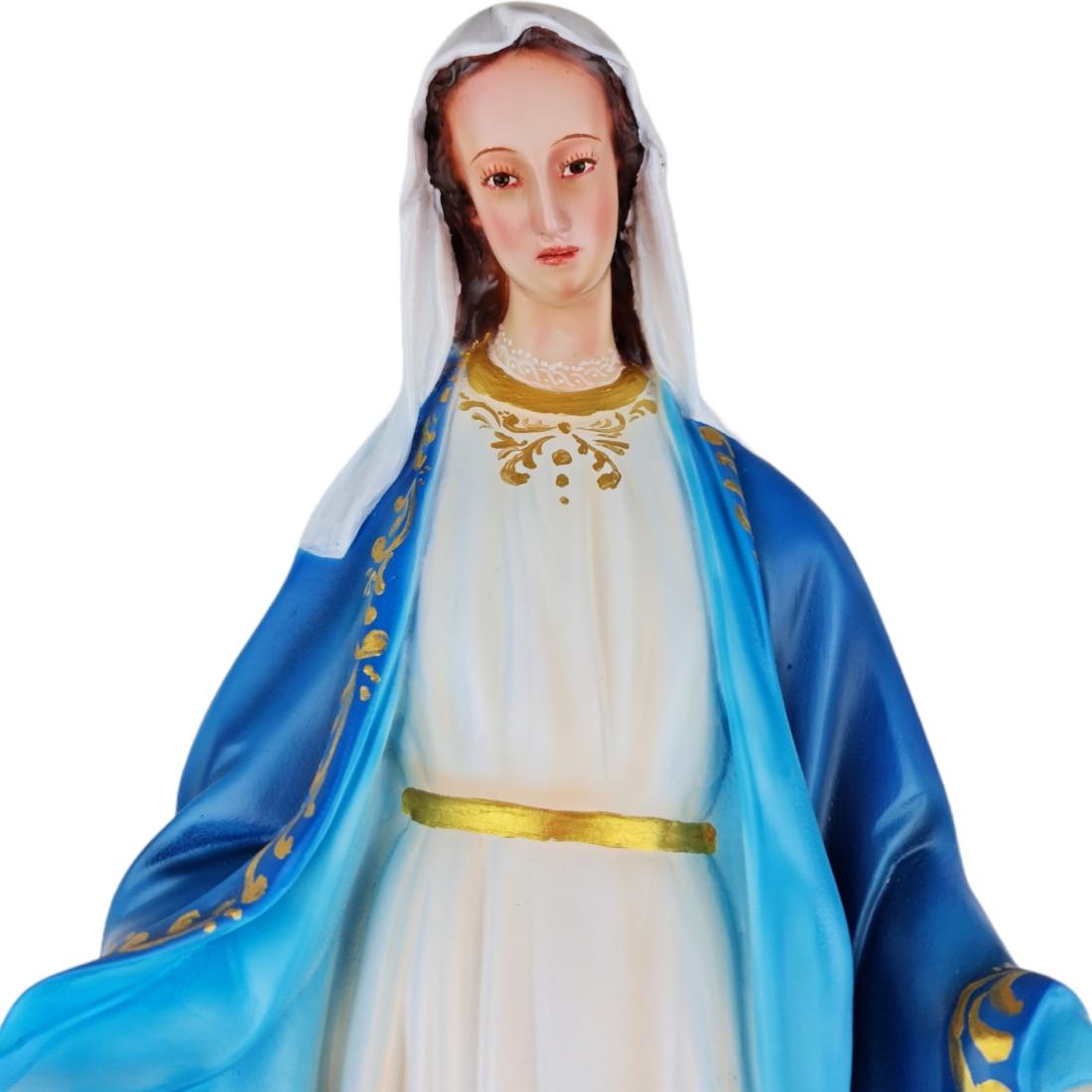 Imagem Escultura Nossa Senhora das Graças  Policromada 60cm