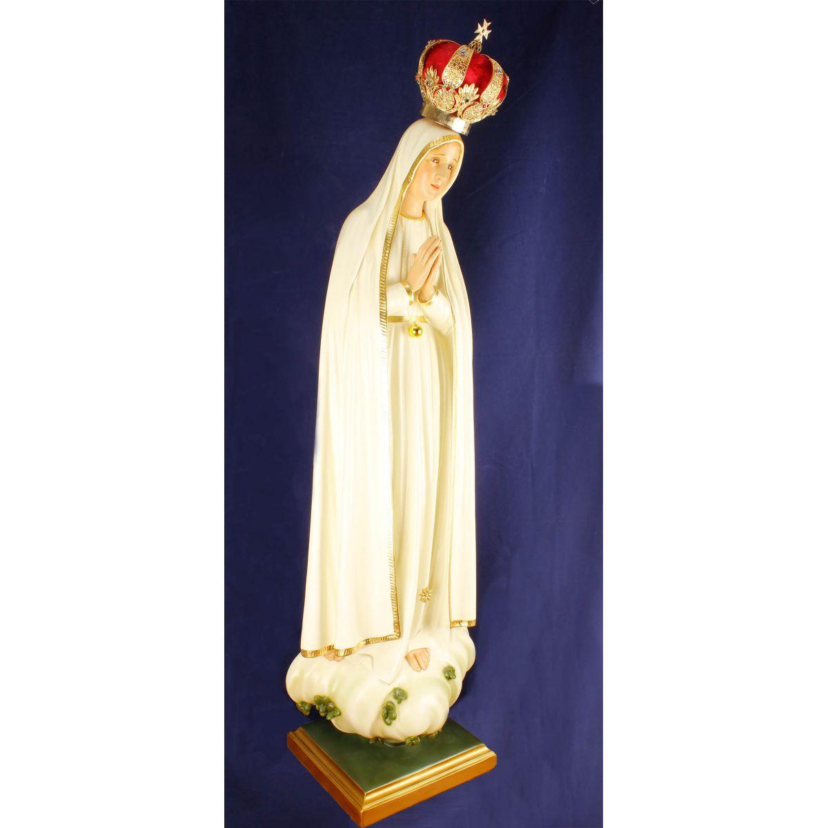 Imagem Escultura Nossa Senhora de Fátima - 120cm FRETE INCLUSO