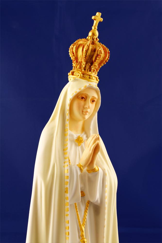 Imagem Escultura Nossa Senhora de Fátima - 33cm