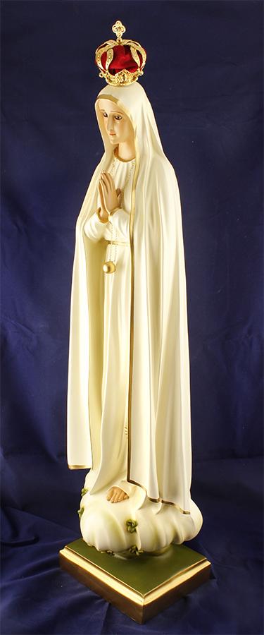 Imagem Escultura Nossa Senhora de Fátima -  74 cm