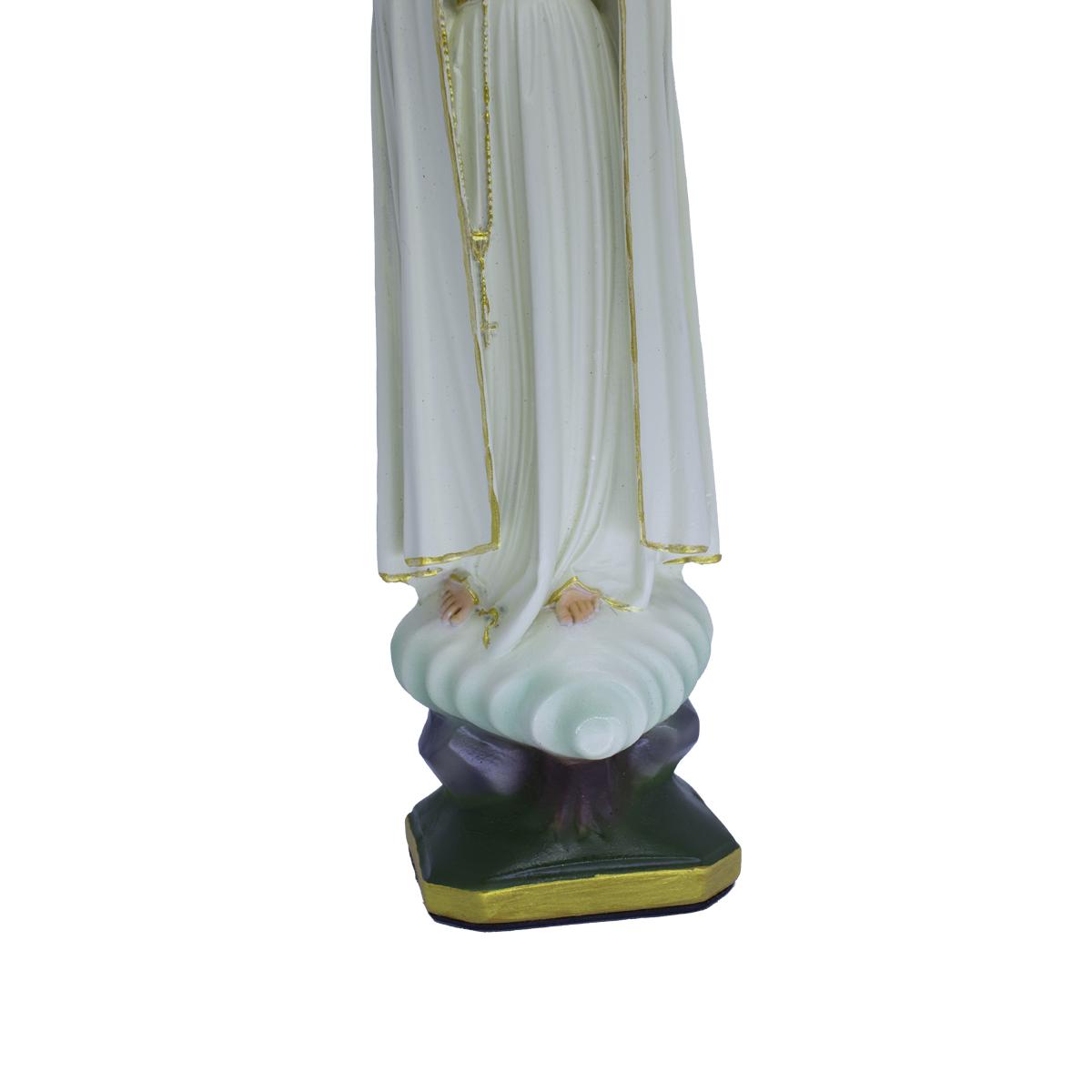 Imagem Escultura Nossa Senhora de Fátima com coroa - 25cm