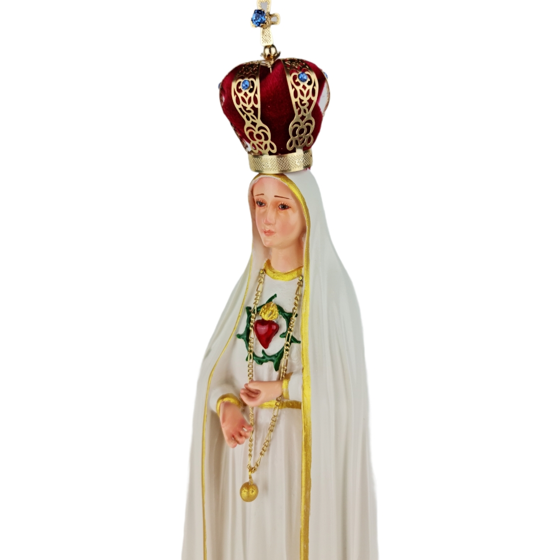 Imagem Escultura Nossa Senhora de Fátima Imaculado Coração -  40cm
