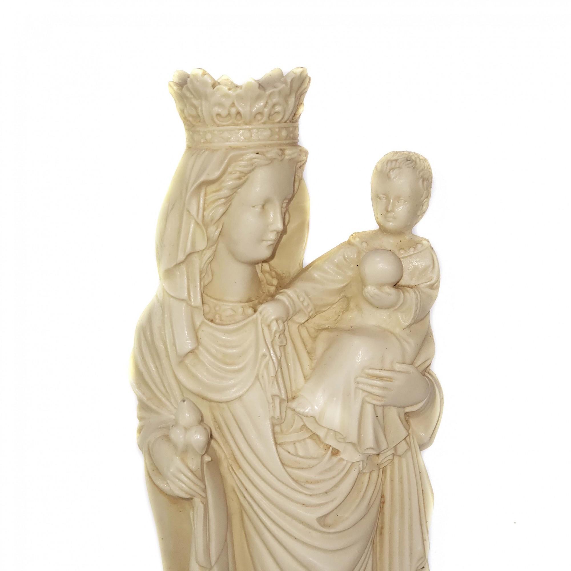 Imagem Escultura Nossa Senhora de Paris Cor Marfim 28cm