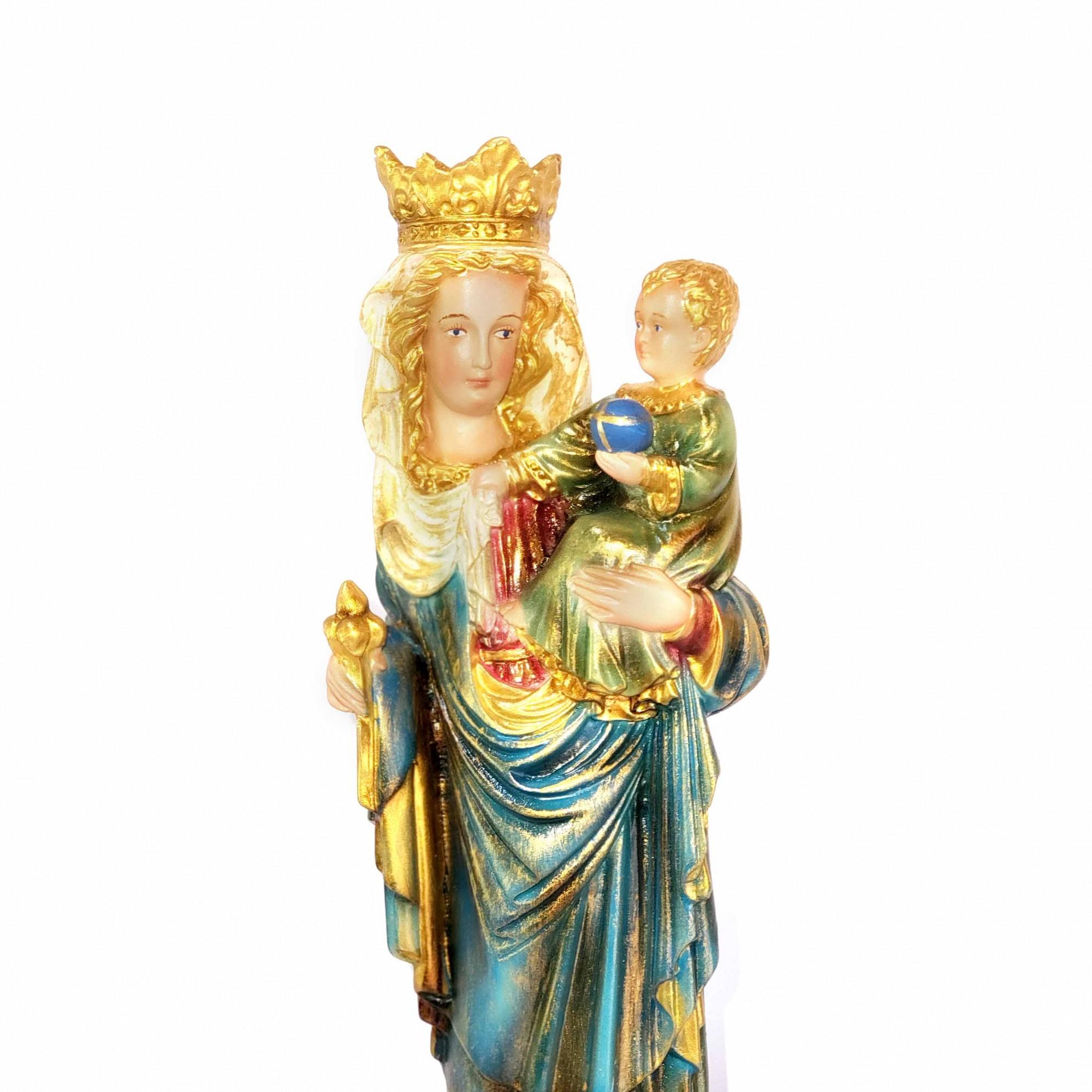 Imagem Escultura Nossa Senhora de Paris Policromada 28cm