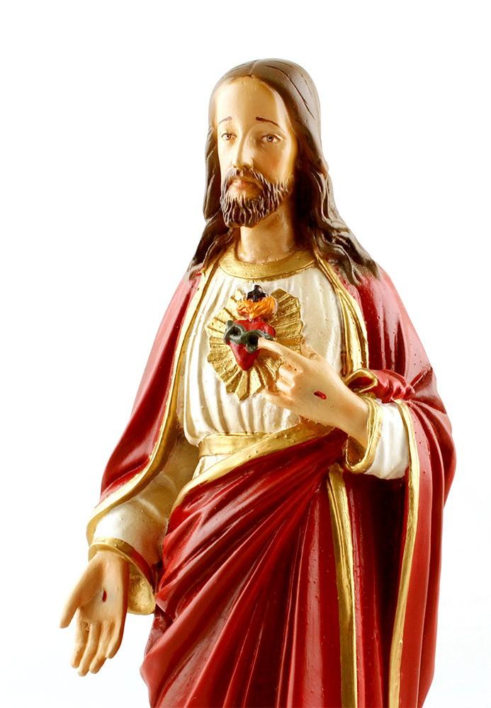 Imagem Escultura Sagrado Coração de Jesus Resina - 30cm