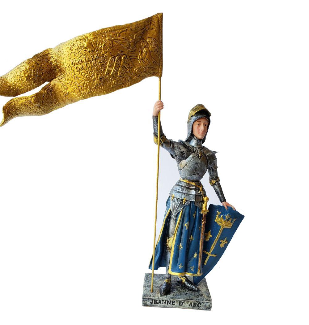 Imagem Escultura Santa Joana D'Arc  20cm