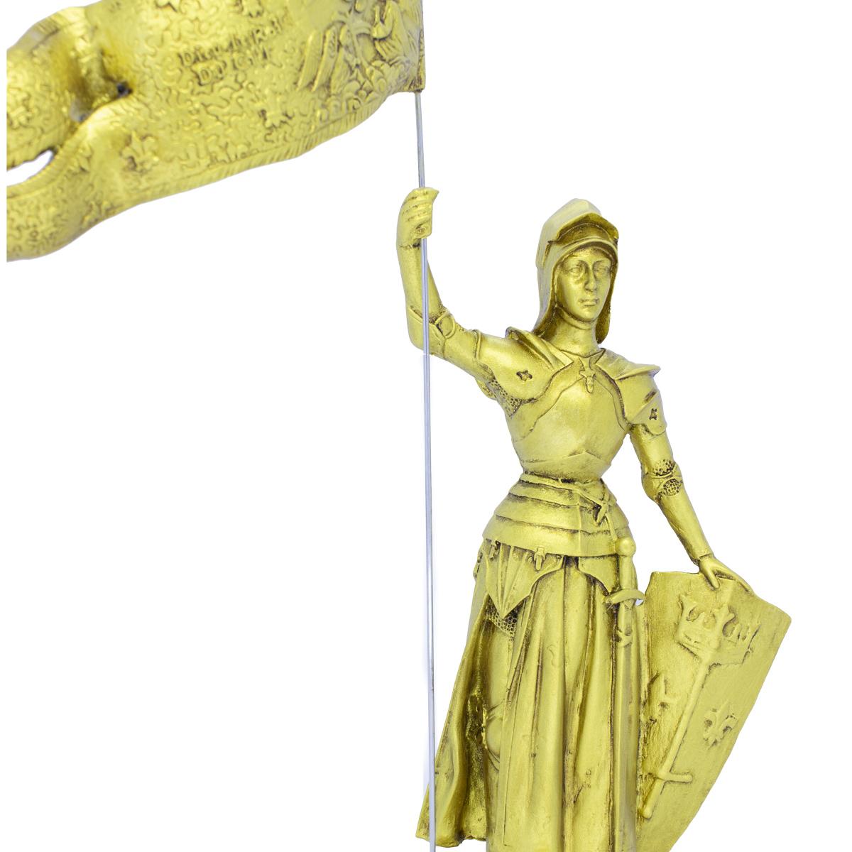 Imagem Escultura Santa Joana D'Arc  20cm C/Bandeira