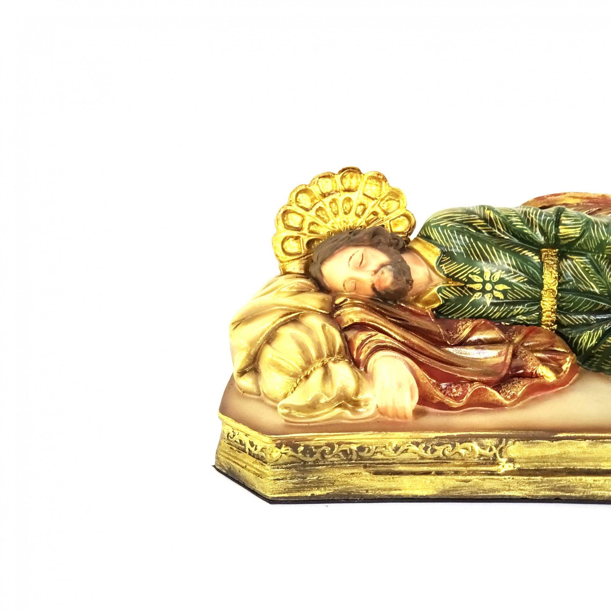 Imagem Escultura São José Dormindo Policromada