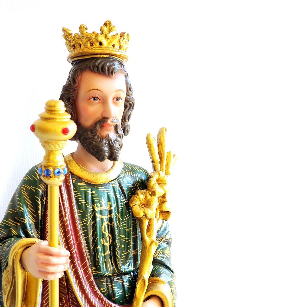 Imagem Escultura São José Rei 45cm Policromado