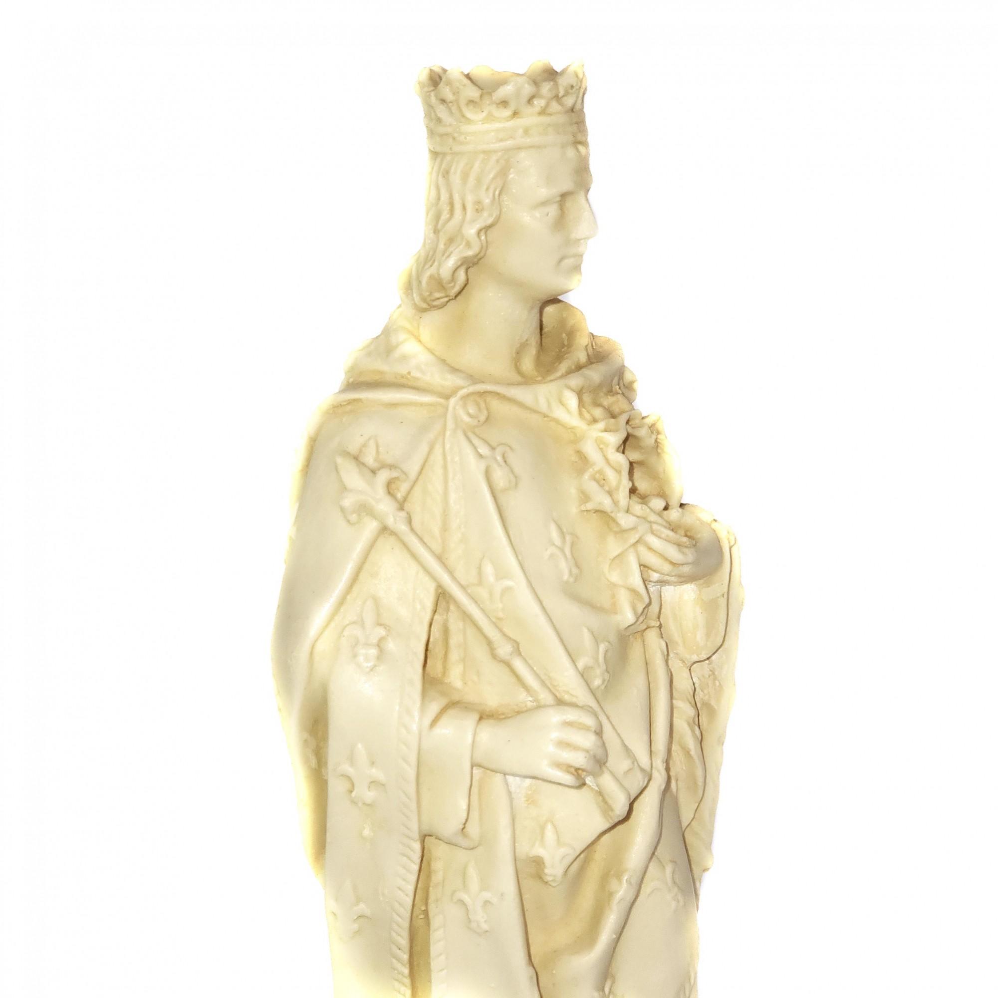 Imagem Escultura São Luis IX Rei da França