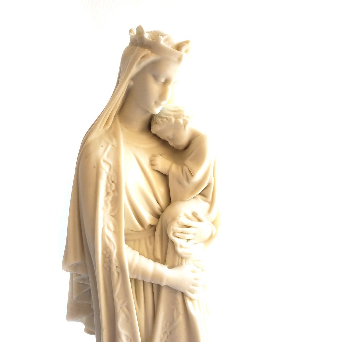Imagem Nossa Senhora da Sabedoria Branca - 40cm Com Peanha Gótica