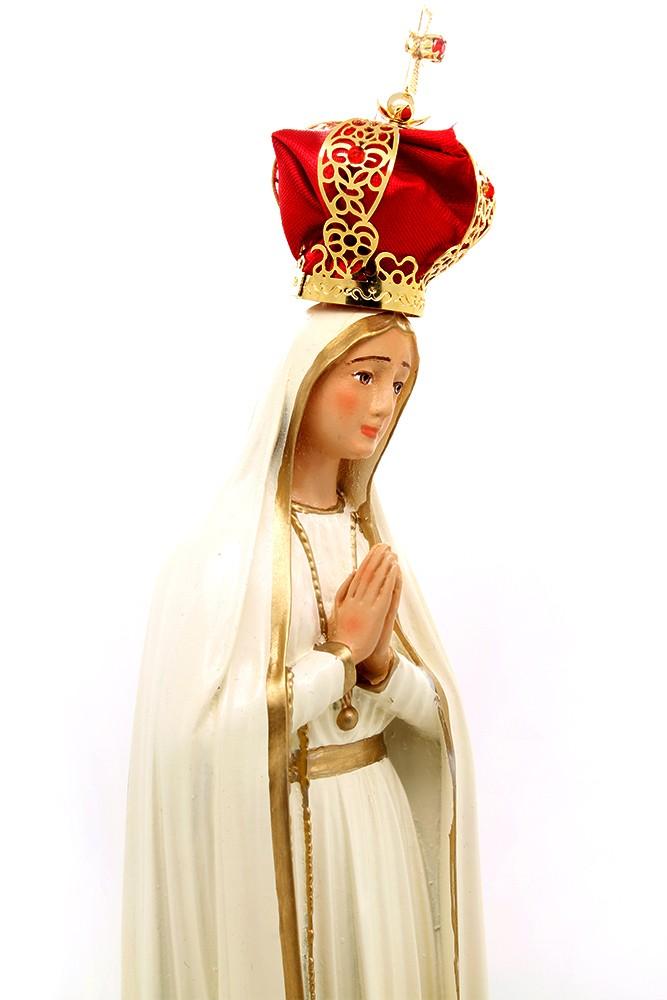 Imagem Nossa Senhora de Fátima com coroa - 25cm