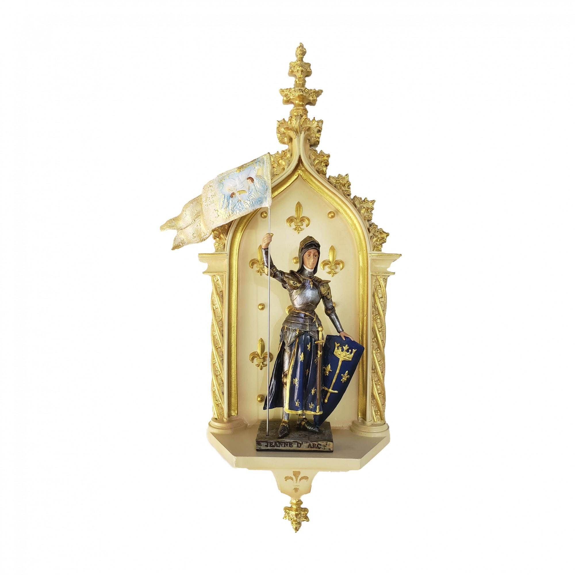 Imagem Santa Joana D'Arc C/ Peanha Oratório