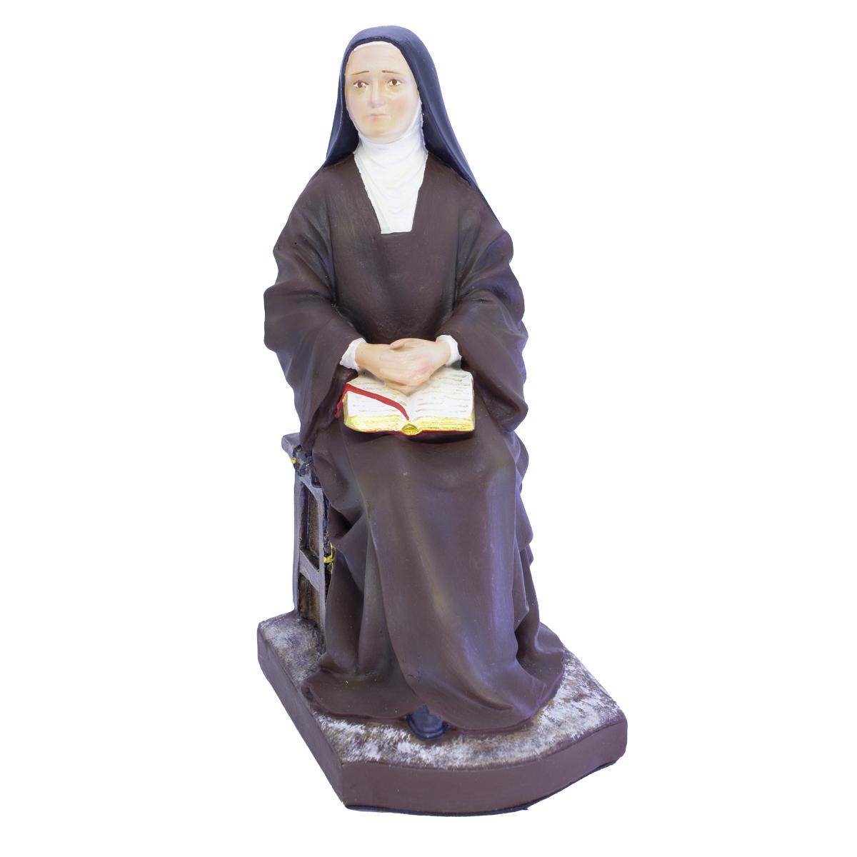 Imagem Santa Teresinha do Menino Jesus Sentada Policromada