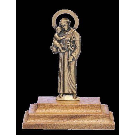 Imagem Santo Antonio no Pedestal de Madeira OV