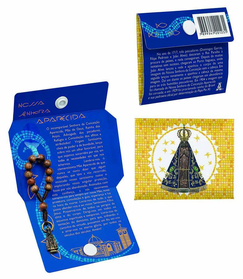 Lembrança Cartão Nossa Senhora Aparecida com dezena