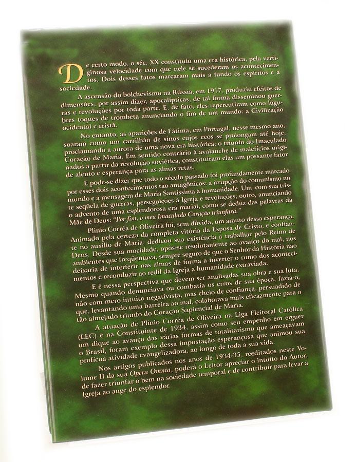 Livro - Opera Omnia de Plinio Correa de Oliveira - Vol II