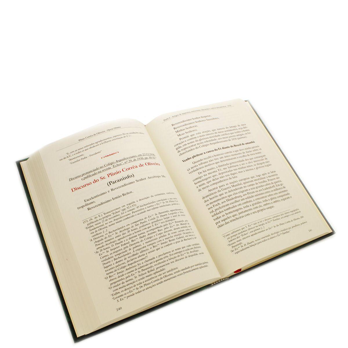 Livro - Opera Omnia de Plinio Correa de Oliveira - Vol III