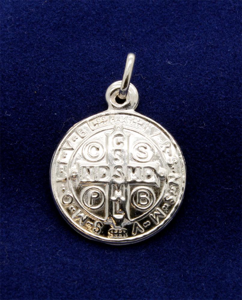 Medalha de São Bento Prata 925 - 18mm