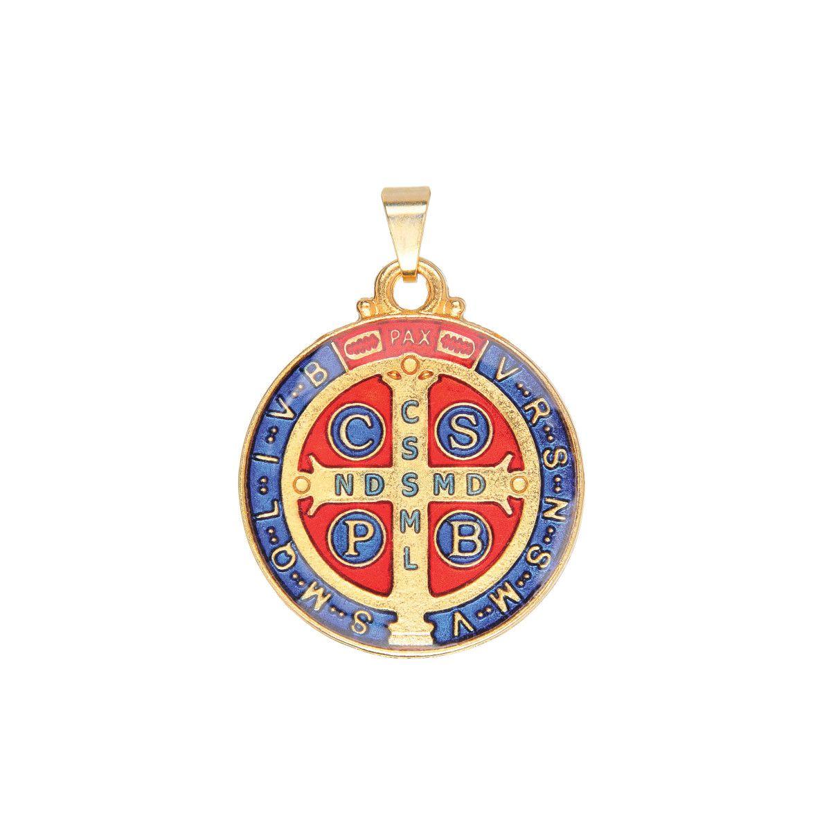 Medalha de São Bento Resinada Colorida 3CM