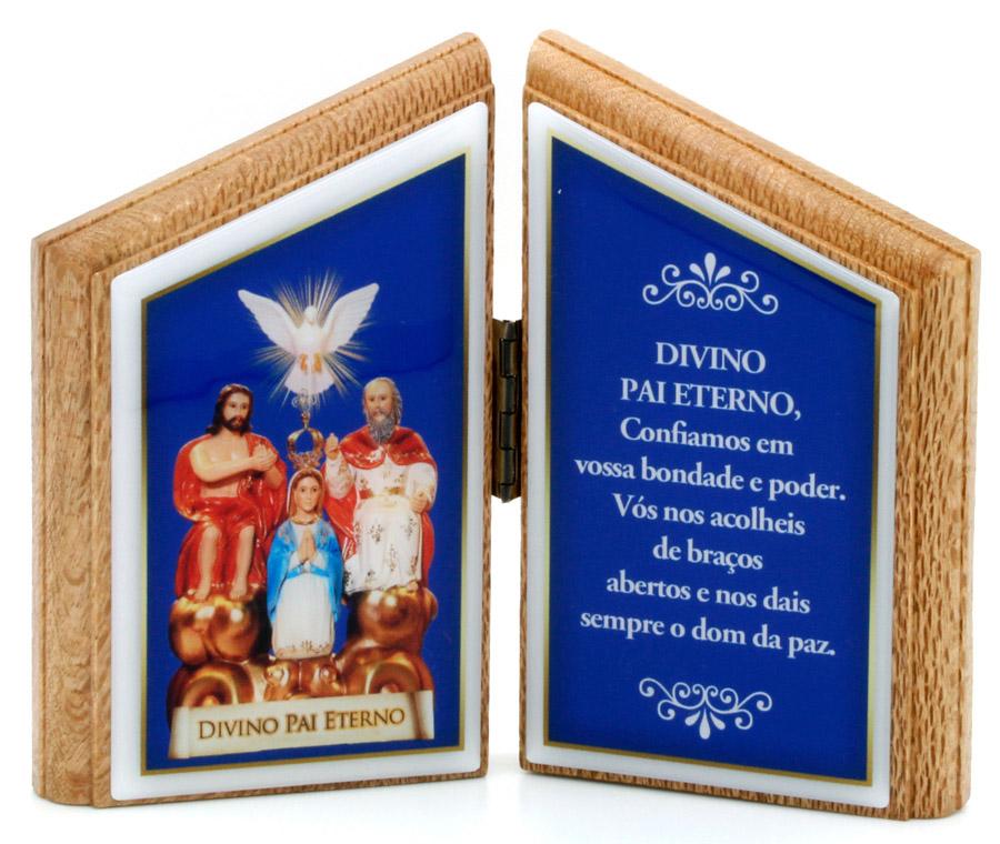 Oração de Mesa Divino Pai Eterno - madeira