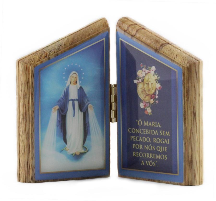 Oração de mesa Nossa Senhora das Graças - madeira