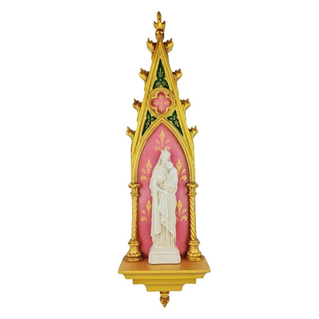 Oratório Gótico Nossa Senhora da Sabedoria em Resina - 46cm