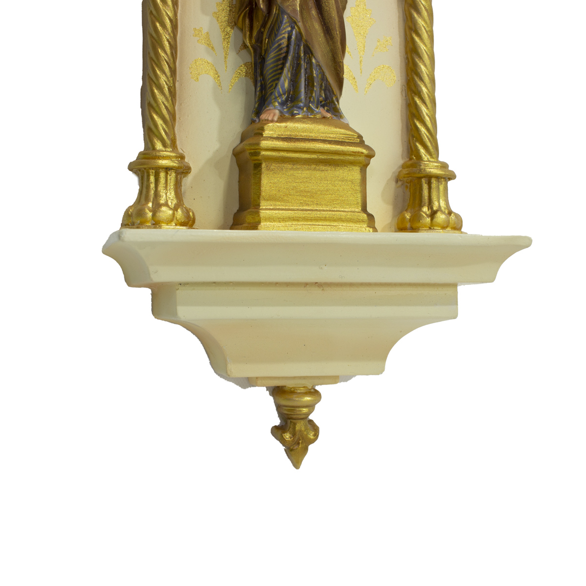 Oratório Gótico São José em Resina Policromado - 46cm