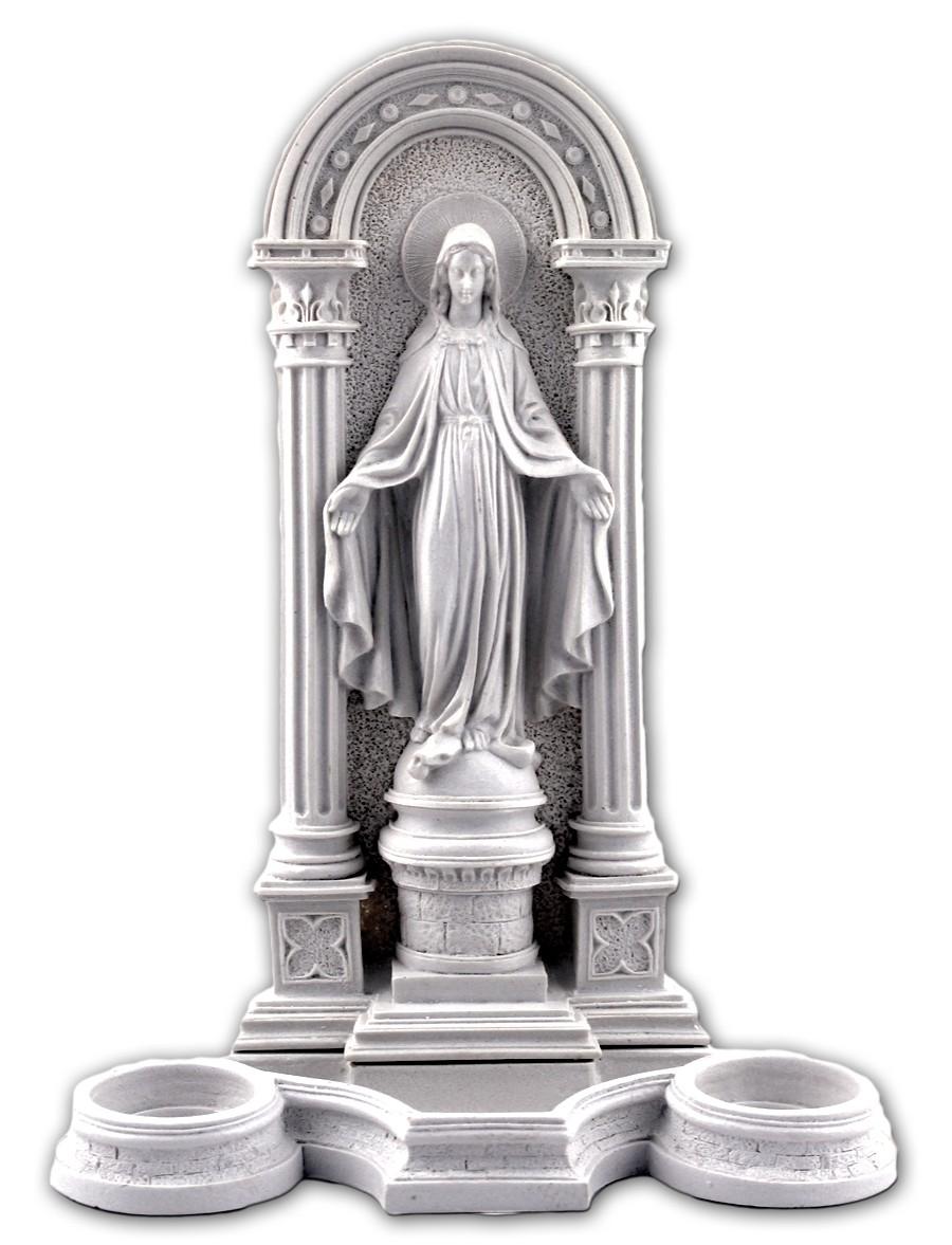 Oratório Nossa Senhora da Graças com porta-velas  - 25cm