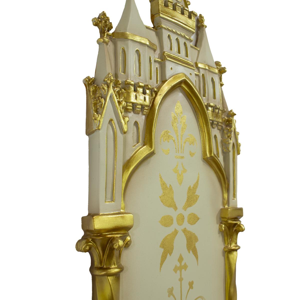 Oratório Peanha Castelo Gótico 90cm Dourado