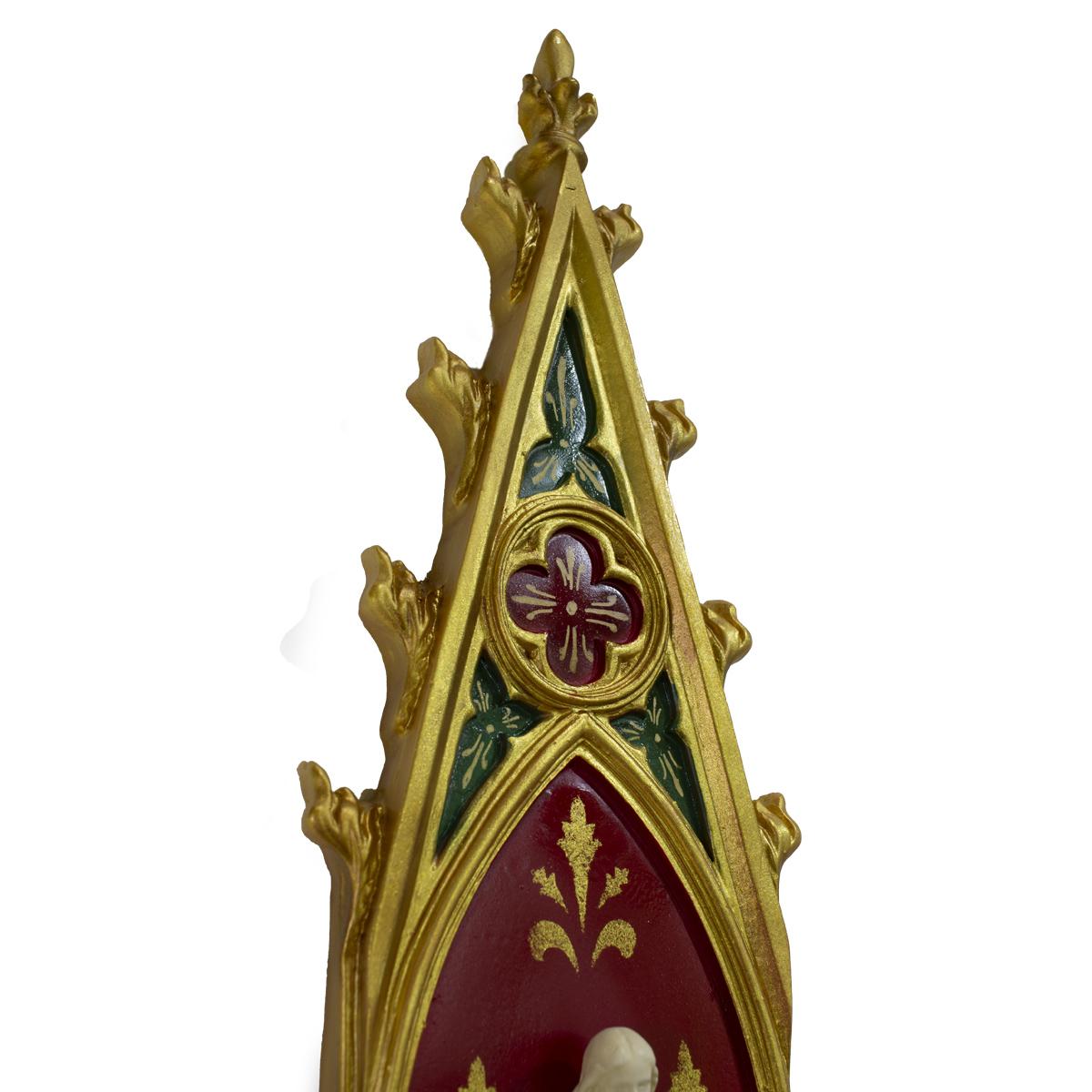 Oratório Sagrado Coração de Jesus em resina - 46cm