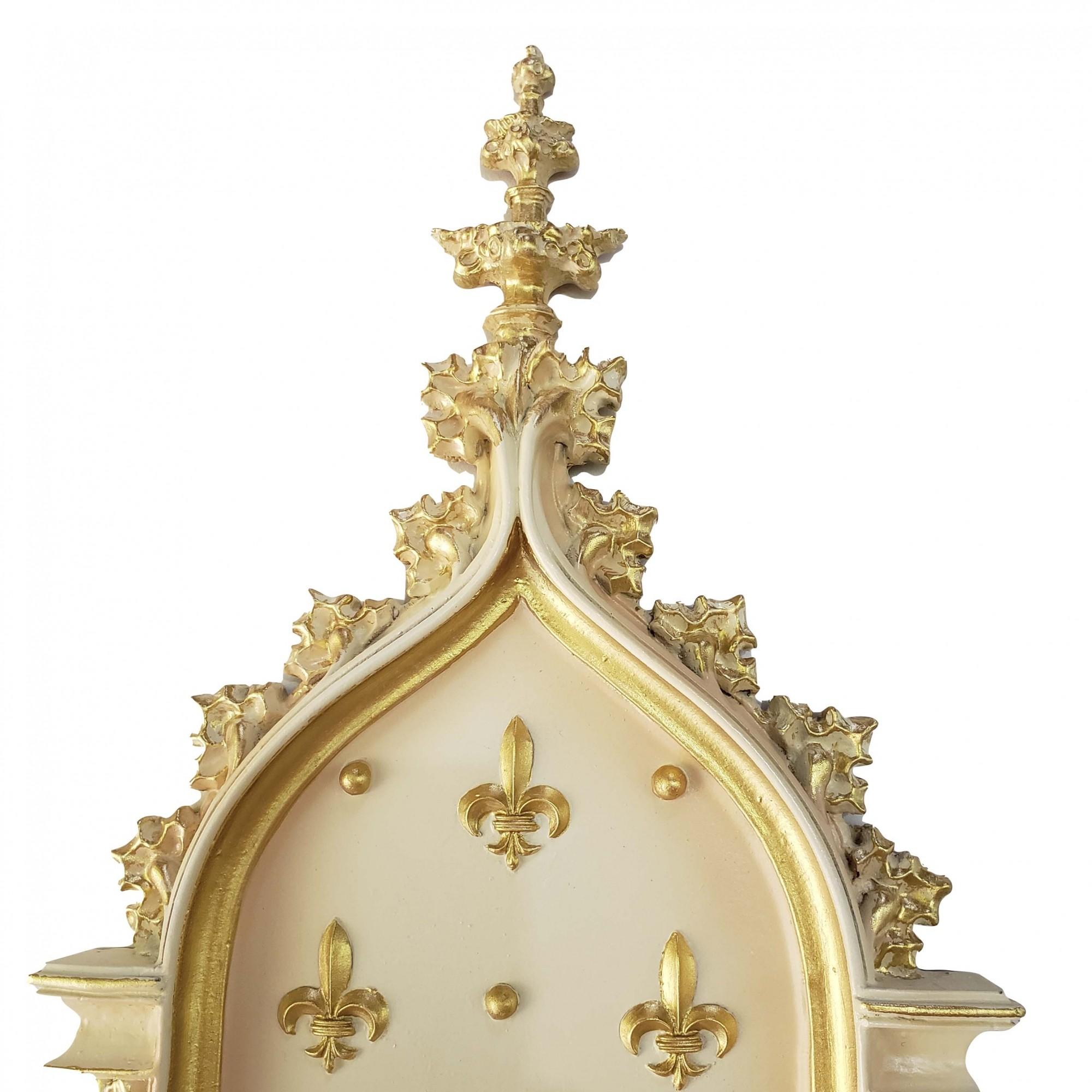 Peanha Oratório 54cm Dourada