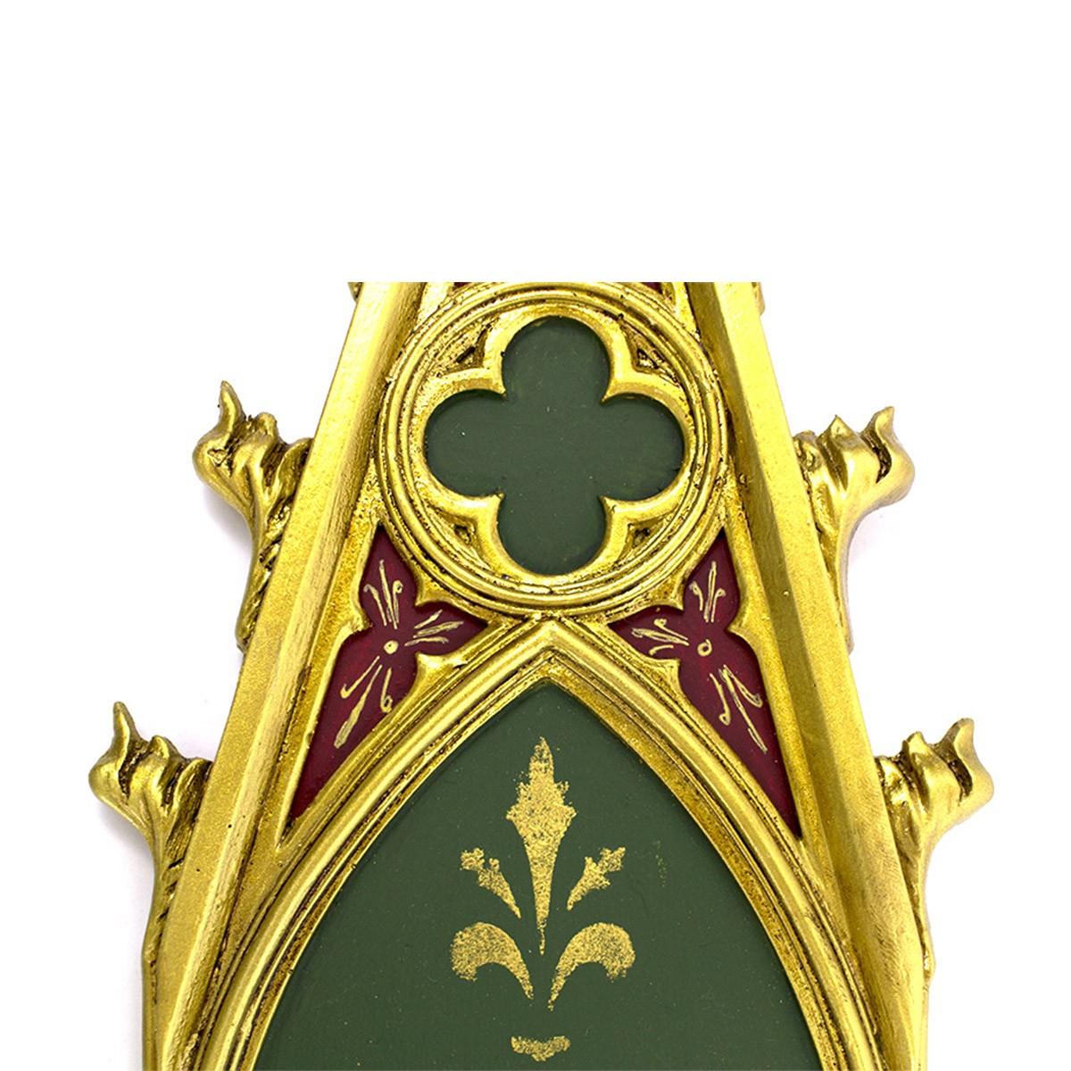Peanha Oratório Gótico 45CM Verde